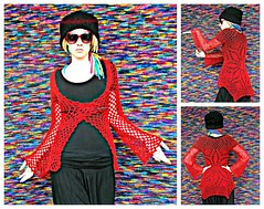Red Lace Cardigan (babukatorium) Tags: flowers red flower art net lana wool fashion dreadlocks circle sweater furry warm mesh handmade lace burgundy oneofakind web coat crochet moda fluffy style mandala mohair blonde romantic hippie dread fiori dreads fiore rasta cardigan bohemian doily shrug octagon whimsical extensions fakehair maglia bolero haken fakedreads hkeln croch ganchillo uncinetto biondi yarnhair fattoamano woolhair capellifinti yarndreads  dreadextension coprispalle tii horgolt wooldread woolrovingdreads fakedread babukatorium