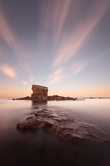 Sunset burst (Steve Clasper) Tags: uk longexposure sunset bw coast rocks north stack coastal northern northeast seatonsluice nd110 collywellbay charliesgarden steveclasper
