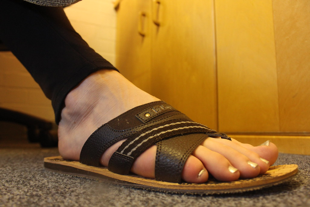 Erotic foot veiny