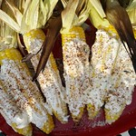 "Mexican Grilled Corn <a style=""margin-left:10px; font-size:0.8em;"" href=""http://www.flickr.com/photos/14315427@N00/7671990296/"" target=""_blank"">@flickr</a>"