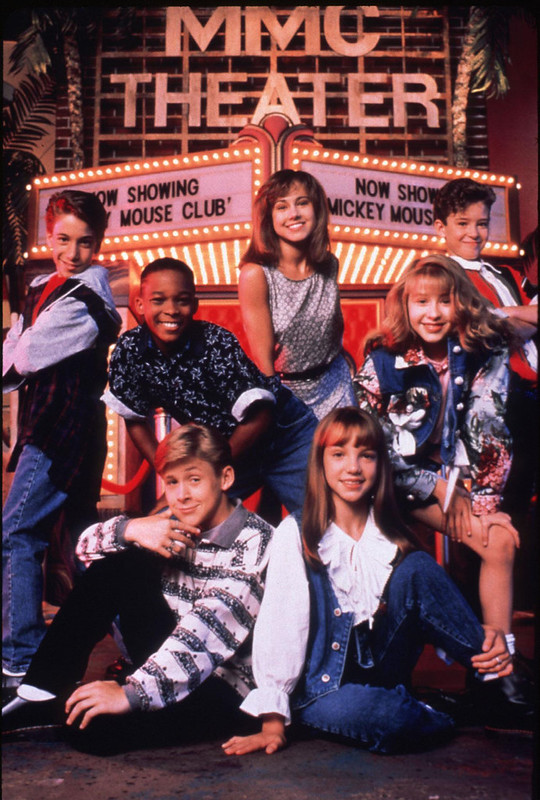 Britney Spears and Christina Aguilera. in the Disney channel series \'The New Mickey Mouse Club\'