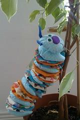 very hungry caterpillar Gigi (bodzierwa) Tags: toys handmade sew caterpillar zabawka gasienica redkitegifts boskite