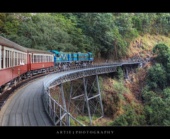Kuranda Scenic Railway, Cairns, Far North Queensland :: HDR (:: Artie | Photography ::) Tags: train photoshop rainforest railway australia wideangle queensland tropical vegetation handheld cairns ef 1740mm hdr kuranda artie cs3 kurandascenicrailway 3xp farnorthqueensland f4l photomatix tonemapping tonemap 5dmarkii 5dm2