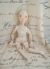 WIP - Sonnet (Jordan Taylor - The Free Folk) Tags: handmade antique sewing shakespeare romantic artdoll sonnet shabby clothdoll