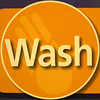 Wash (chrisinplymouth) Tags: squircle circle round hygeine word langeng wash cw69x orange onewordwash sign squaredcircle jwo circular