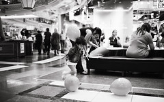first day at school in berlin (roebbenaldo) Tags: street bw playing berlin contrast mall kid child candid center 5d cinematic 35l