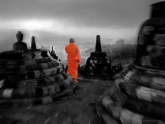 Borobudur 2 (h.koppdelaney) Tags: life light art digital photoshop self indonesia temple peace power symbol buddha magic dream picture monk buddhism philosophy silence mind meditation metaphor enlightenment stillness borobudur psyche symbolism psychology archetype koppdelaney