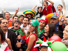 Mexican Fans (Dan Smyth Photography) Tags: 3 london mexico football tv stadium report reporter victory mexican final tres win olympics interview 2012 wembley azteca