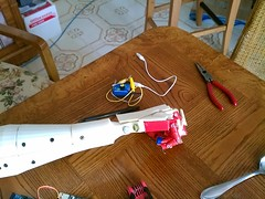 Right on the Table (bstott) Tags: hand arm fingers right tips assembly inmoov