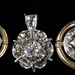 4060. Three Gold and Diamond Pendants
