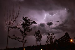Calgary Storm, Aug 12-12 (Neil Zeller Photography) Tags: trees sky cloud storm calgary weather clouds intense alberta nightsky lightning thunder darksky aug12 aug13 weathernetwork garrisonwoods explorecanada