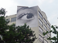 JR (i_follow) Tags: street nyc newyorkcity urban art brooklyn jr bigeye ifollow insideoutproject