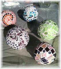 Mosaic Garden Balls (juliajae) Tags: glass ball garden mosaic recycle