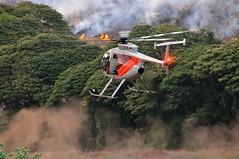 Kokee Road Wildfire Kauai (Brian Howell) Tags: road water fire hawaii haze smoke drop brush helicopter burn kauai hillside wildfire kokee kekaha hughes500 bambibucket air1 md369ff