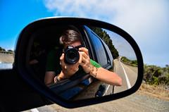 self @ Big Sur, CA (franbatt) Tags: california portrait selfportrait mirror coast nikon surf waves pacific bigsur highway1 pacificcoast carmirror d5100 california11 nikond5100