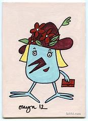 ONYN-00381 (ONYN Paintings) Tags: flowers urban bird london art hat painting folkart contemporary canvas gift buy present chic handbag collect collectable eastlondon onyn wwwonyncom onyncom