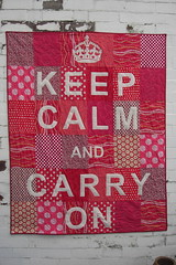 Keep Calm and Carry On (flossyblossy) Tags: red london quilt calm keep patchwork carry