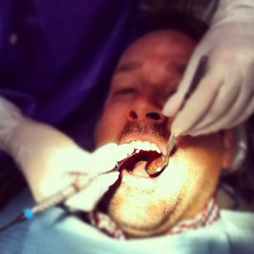 Selfie at the dentist.