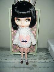 "Kiki modeling new ""Mabel"" sweaters"