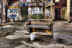 Piano Concerto Number Zero For Warehouse And Bucket (DetroitDerek Photography ( ALL RIGHTS RESERVED )) Tags: urban abandoned digital canon graffiti globe marine midwest industrial alone decay michigan interior urbandecay detroit ruin piano august concerto solo instrument 5d inside economy remains hdr rivertown remnants allrightsreserved 2012 mkii manufacture urbex 313 motown musicial