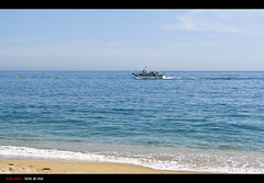 Loret de Mar | Barcelona (Amer Demishi) Tags: barcelona sea water de boat mar spain sand clear espania loret abigfave loretdemar