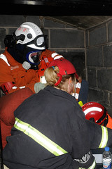 Double Whammy 2009 356 (IainDK) Tags: afurthercasualtyislocatedbythelincolnshireusarteam usar urban search rescue west yorkshire exercise double whammy whamy fire collapse multi agency xxx