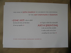 Centennial broadside for the AIB (Elwyn Brooks) Tags: printing type letterpress broadside typeform