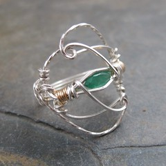 Columbian Emerald Filigree (AshleighAnnette) Tags: green gold wire wrapped ring precious faceted swirls sterling emerald marquis filigree gemstone