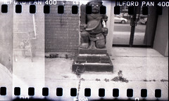 The East End (Beaulawrence) Tags: camera summer white toronto canada black classic film june analog lens toy fantastic lomo lomography mod grain july holes scan retro plastic negative diana f 400 to pan modification cheap remake ilford reproduction ont 2012 sprocket on