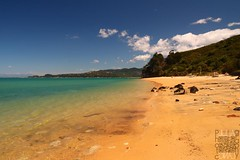 Abel Tasman NP (Garfield4989) Tags: neuseeland new zealand abel tasman nationalpark beach sand ocean blue
