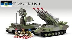 SB-2R radar and KB-335-3 TEL deployed (Awesome-o-saurus) Tags: mobile sam kub radar lego