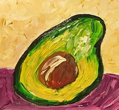 """Before Guacamole"" (BKHagar *Kim*) Tags: bkhagar art artwork painting paint acrylic avocado beforeguacamole formysister tammy"