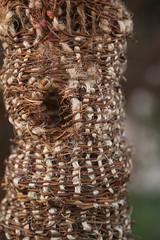 Cornucopia Tree House (Utopia for critter) (huisite) Tags: naturalart environmental friendly art sculpture birdhouse nest weaving hemp wool vine cornucopia utopia home habitation sitespecificinstallation outdoor