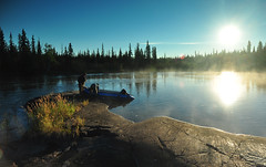 Morning Preperations (Fish as art) Tags: boating adventurephotography northwestterritories yellowknife