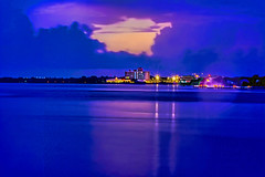 The skyline of Stuart, Florida, U.S.A. along the banks of the St. Lucie River (Lago Tanganyika) Tags: downtownstuart sunshinestate cityskyline southerncity martincounty