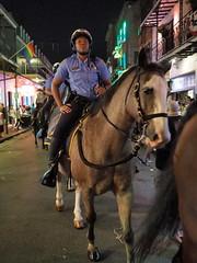 NOPD (DarkLantern) Tags: neworleans nola opso street night people bourbonst mounted police horse patrol