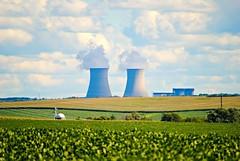 Byron, Illinois Power Plant (Cragin Spring) Tags: powerplant smoke clouds sky field farm byron byronil byronillinois rural midwest unitedstates usa unitedstatesofamerica