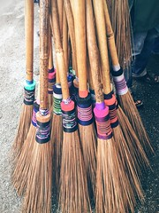 Traditional broomstick Low Section Close-up Togetherness Variation Multi Colored Person In A Row Focus On Foreground Spool Large Group Of Objects (Craig Ansibin) Tags: lowsection closeup togetherness variation multicolored person inarow focusonforeground spool largegroupofobjects