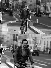 [La Mia Citt][Pedala] (Urca) Tags: milano italia 2016 bicicletta pedalare cicllista ritrattostradale portrait dittico nikondigitale mir bike bicycle biancoenero blackandwhite bn bw 881120