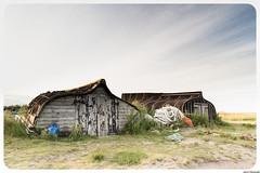 The Boat Huts (aljones27) Tags: lindisfarne harbour boat boats hut huts