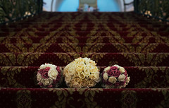 Bridal bouquet on hotel staircase (Leigh Render Photography) Tags: wedding bridal bouquet scarborough flowers hotel details photography photographer yorkshire uk staircase grand