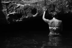 _Stufe di nerone (marziabertelli) Tags: model nude acqua water di nerone napoli baia bacoli goccia fiaf contest malaz marianna roccia rock spalle schiena dietro riflesso bwn napolivistadame italy sud bianco nero photo photography foto panorama esplora trip scoperta stufe ameliepoulan