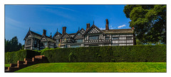 Bramell House (Kevin, from Manchester) Tags: 14thcentury architecture bramallhall building canon1100d canon1855mm clouds colorfull gradeilistedbuilding hdr historical kevinwalker manchester photoborder stockport tudor tudormanorhouse panorama panoramic