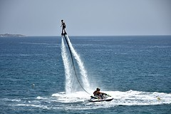 Water Sports (Tungmay is back, trying to catch up.) Tags: greece spetses watersports sea jetski waterflight