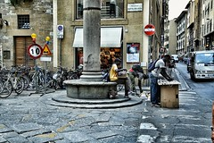 Street life Florence Italy (Exploringeurope) Tags: streetlife streetphotography florence florenz firenze photography people europa europe hardlife dailystruggle selling working threemen italy italia street emotions drama life choices