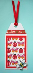 GT8 - Handmade tag (tengds) Tags: tag gifttag handmade red white bee butterfly ladybug flowers papercraft tengds