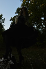 DSC_0390 (saadat1917) Tags: dasha forest tights stockings high heels engels russia gothic goth girl long hair blonde 16 inches 17 platform platforms skirt sexy black dark depressive gloomy death nature satanic ritual nu tree tulle lace