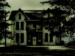 The Haunted (HSS) (Dark Series) (13skies) Tags: house symmetry even spooky balanced evil ghostly ghosts waterfordtrip trees windows shot sonyalpha57 a57