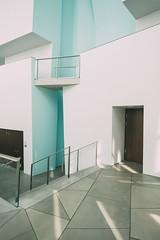 Teal Split (Tom Levold (www.levold.de/photosphere)) Tags: luxemburg luxembourg philharmonie philharmonia architektur architecture fuji fujixpro2 xpro2 light shadows