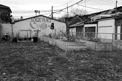 Logie Place (geowelch) Tags: toronto queenstreetwest urbanfragments communitygarden abandoned blackwhite sonynex5 sonysel185535561855mm newtopographics